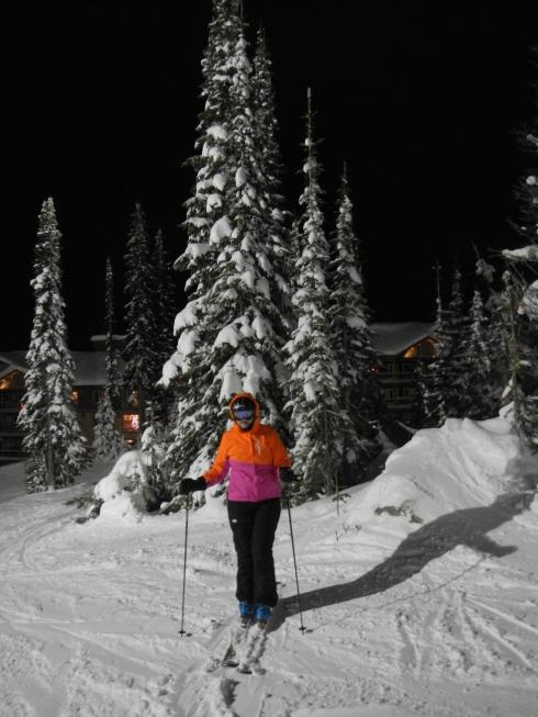 Bonnie - Big White night skiing.